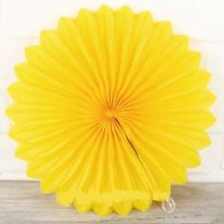 Паперова розетка жовта 40 см