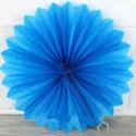 Бумажный веер (фант) голубой 40 см