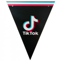 Декорація Гірлянда прапорці Тік-Ток папір. поліестер F-9035366