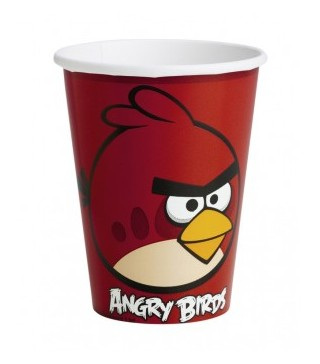 Стаканчики святкові Angry Birds 8шт/уп.