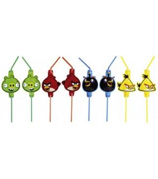 Трубочки Angry Birds 8шт/уп