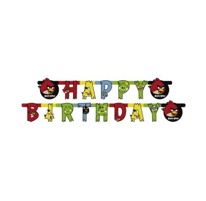 Гирлянда Happy Birthday Angry Birds