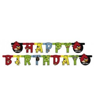 Гірлянда Happy Birthday Angry Birds
