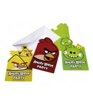 Пригласительное Angry Birds 1шт