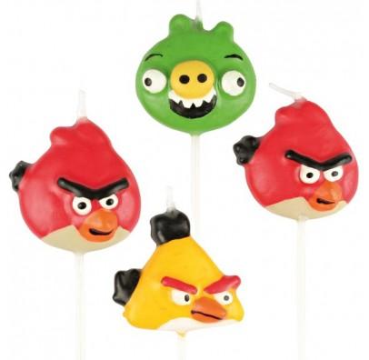 Свечи Angry Birds 4шт/уп