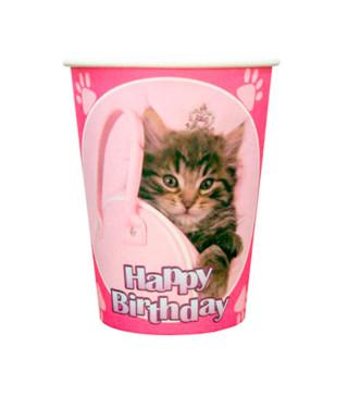 Стаканчики котик Happy birthday