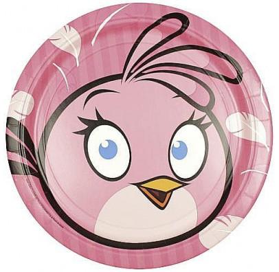 Тарілочки Angry Birds Stella, 8 шт/уп
