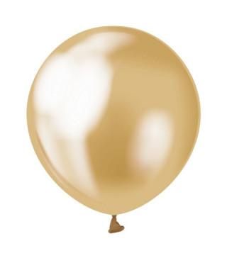 """Воздушные шарики золотые 5""""(13см) хром 50шт/уп"""
