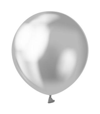 """Воздушные шарики серебрянные 5""""(13см) хром 50шт/уп"""
