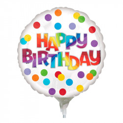 Кульки міні Happy Birthday конфетті