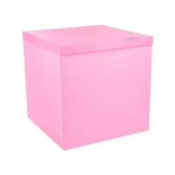 Пакувальна упаковка Коробка куб рож. 70*70*70см картон 50502 Україна