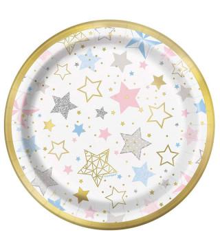 Тарілки конфетті 8 шт/уп.17,1см 72414 Unigue