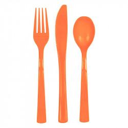 Набір столових приборів оранжеві
