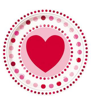 Тарілки Серце 8 шт/уп
