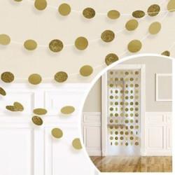 Декорація Підвіска Кульки золоті  2.13 м 6шт/уп Поліетилен 672424.09 Amscan