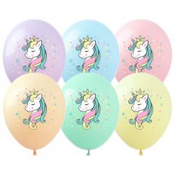 Кульки поштучно з малюнком Єдиноріг