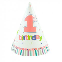 Ковпачок 1-st Birthday рожевий