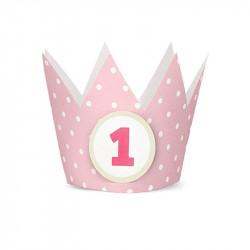 Корона на 1 год розовая