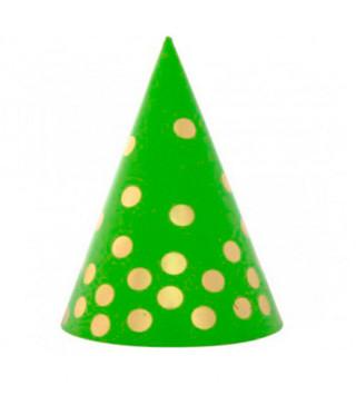 Колпачок Зеленый в золотой горох