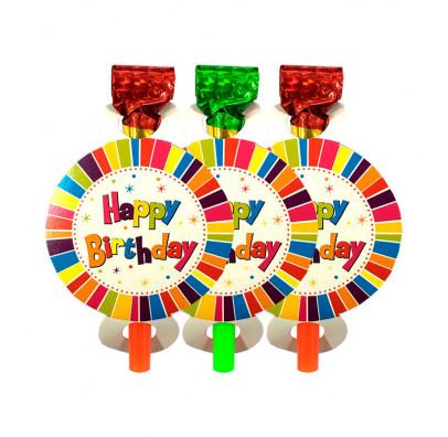 Язичок-гудок Happy Birthday 6шт/уп