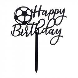 Топер happy birthday футбольный мяч