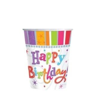 Стаканчики Happy Birthday