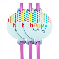 Трубочки для коктейля Happy Birthday
