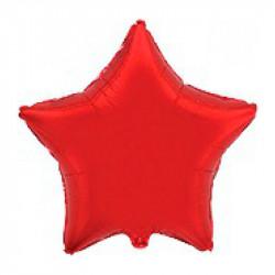 Шарики фольгированная Звезда (красная)