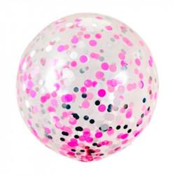 Кулька баблс з конфеті фуксія