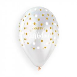 Шарики прозрачные Happy Birthday