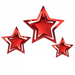 Декорация Подвеска 3D Звезда (красная)