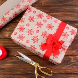 Подарочная бумага новогодняя