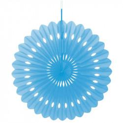 Декорация бумажная розетка голубая