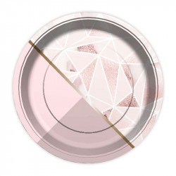 Тарілки Геометрія рожева