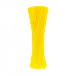 Соломка для коктейлю жовта
