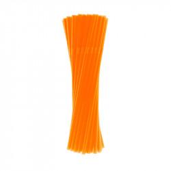 Трубочка для коктейля оранжевая