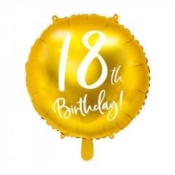 Шарик фольгированный 18-th Birthday