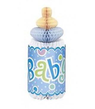 Декорация на стол Бутылочка Baby голубая 1шт/уп