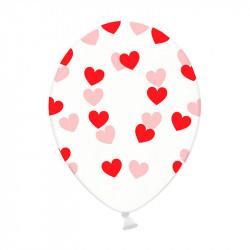 Кульки з малюнком Червоні Сердечка