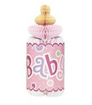 Декорация на стол Бутылочка Baby розовая 1шт/уп