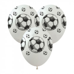 Кульки з малюнком Футбольні м'ячі 100 шт/уп