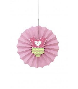 Паперова розетка дитяча рожева