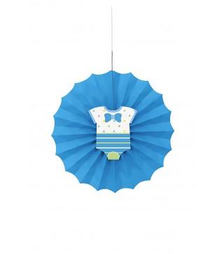 Паперова розетка дитяча блакитна