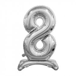 Кулька Цифра 8 на підставці срібна