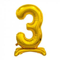 Кулька Цифра 3 на підставці золота