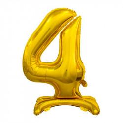 Кулька Цифра 4 на підставці золота