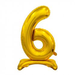 Кулька Цифра 6 на підставці золота
