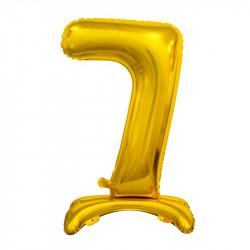 Кулька Цифра 7 на підставці золота