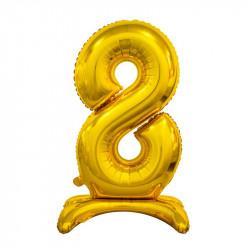 Кулька Цифра 2 на підставці золота