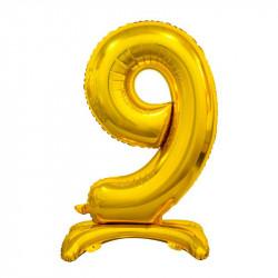 Кулька Цифра 9 на підставці золота